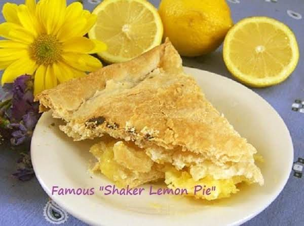 The Famous Shaker Lemon Pie Http://www.npr.org/templates/story/story.php?storyid=89943917 (not My Photo...shaker's Photo)