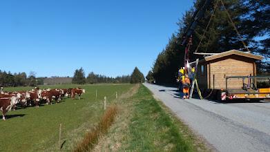 Photo: Udstillingshytte fra Silvan - kommer med vognmand fra Aalborg