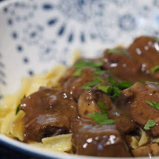 Instant Pot Sirloin Beef Tips with Mushroom Gravy.
