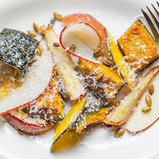 Roasted Pear and Kabocha Squash with Pumpkin Seeds