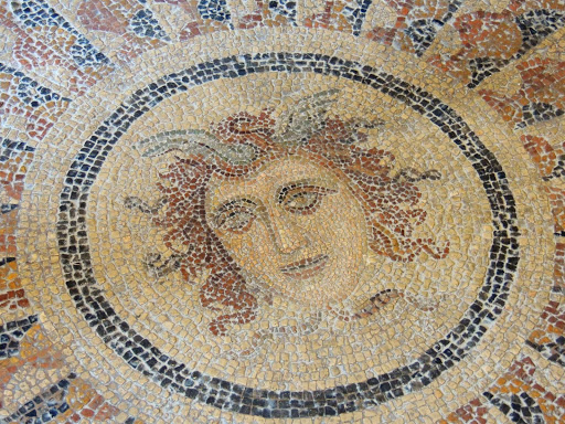 rhodes-mosaic.jpg - A mosaic, many hundreds of years old, spotted on Rhodes.