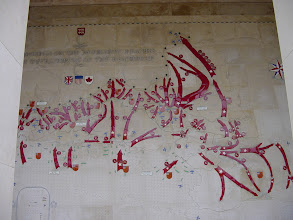 Photo: Inside the monument are detailed descriptions of the course of the struggle through Normandy.
