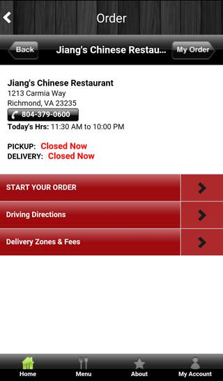 Jiang's Chinese Restaurant- screenshot