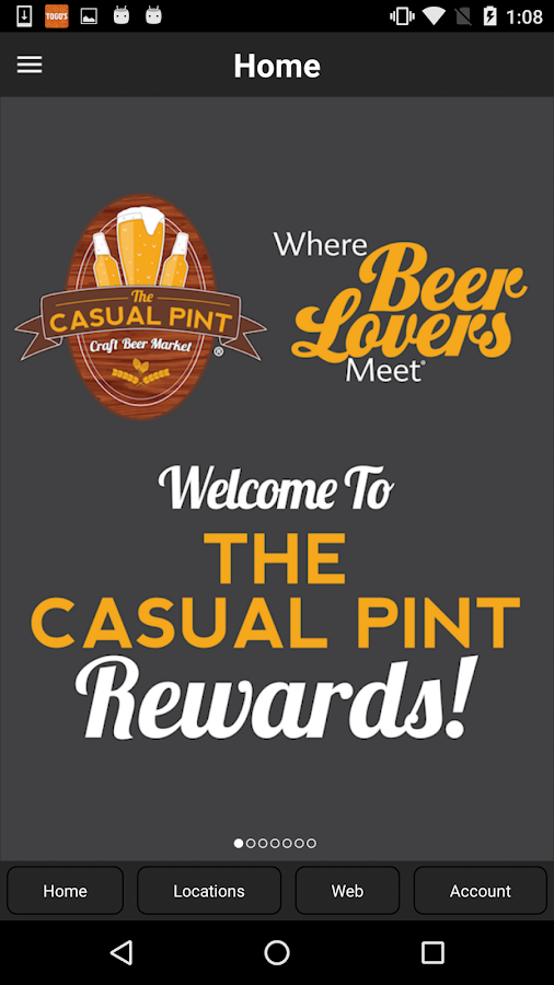 Casual Pint Rewards- screenshot