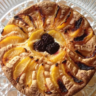 Gluten Free Plum, Almond and Blackberry Tea Cake.