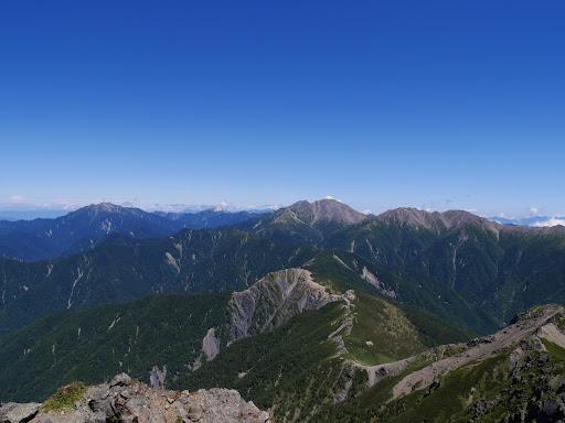 南アルプス北部の山々