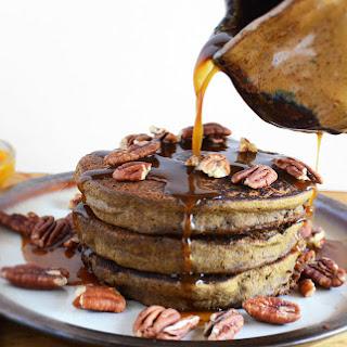Pumpkin Peanut Butter Pancakes [Vegan, Gluten-Free].