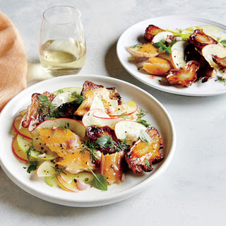 Apple-Sunchoke Salad with Smoked Trout and Cider Vinaigrette