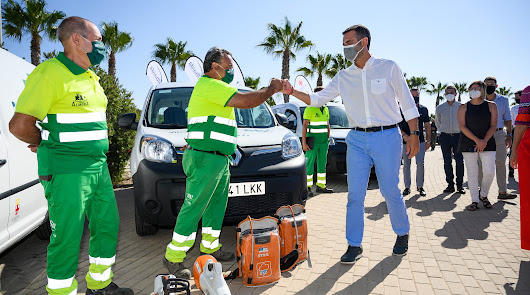 El servicio de Parques y Jardines presenta su método de reciclaje vegetal