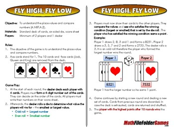 Fly High, Fly Low - [CCSS 4.NBT.A.2]
