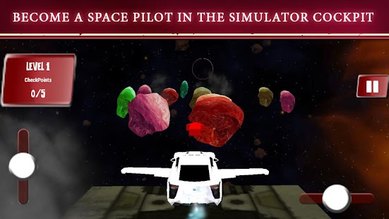 Flying Space Car Simulator 3D - náhled