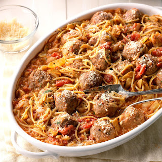 Spaghetti and Meatball Skillet Supper Recipe