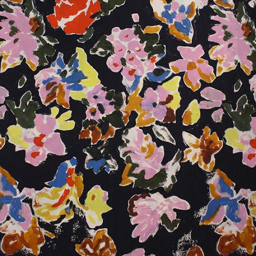 Blomster Bomullspoplin