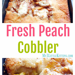 Fresh Peach Cobbler.