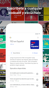 Podcasts de Google Screenshot