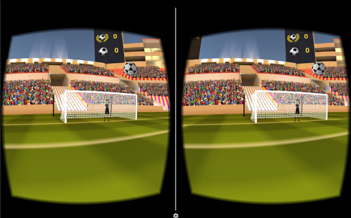 VR Soccer Header for Cardboard