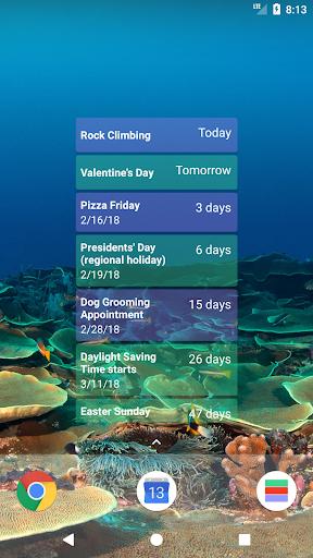 Calendar Countdown List Widget screenshots 2
