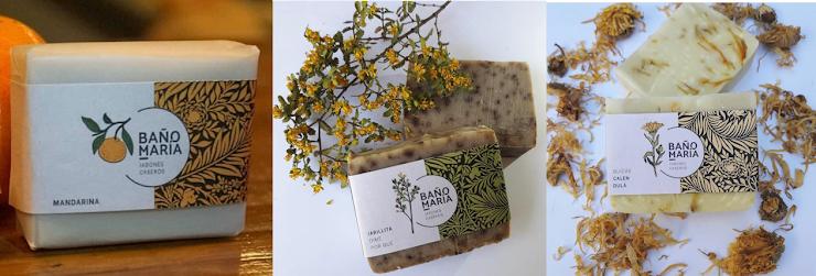 Jabones caseros, a base de aceite de oliva y aceite de coco, son naturales y sin conservantes artificiales.