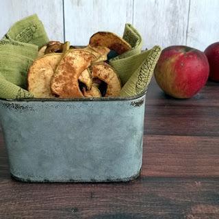 Dried Cinnamon Apple Chips.