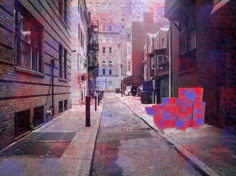 (Fig. 2 - A street image wrongly classified as