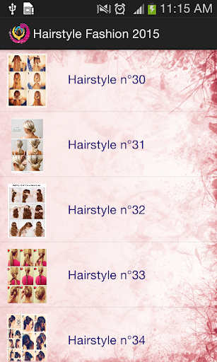 簡単なヘアスタイル 2015