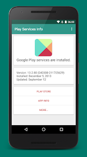 App Play Services Info (Update) APK for Windows Phone