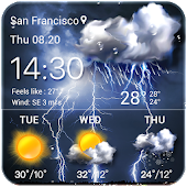 Thunder Storm Weather & Temperature Tracker