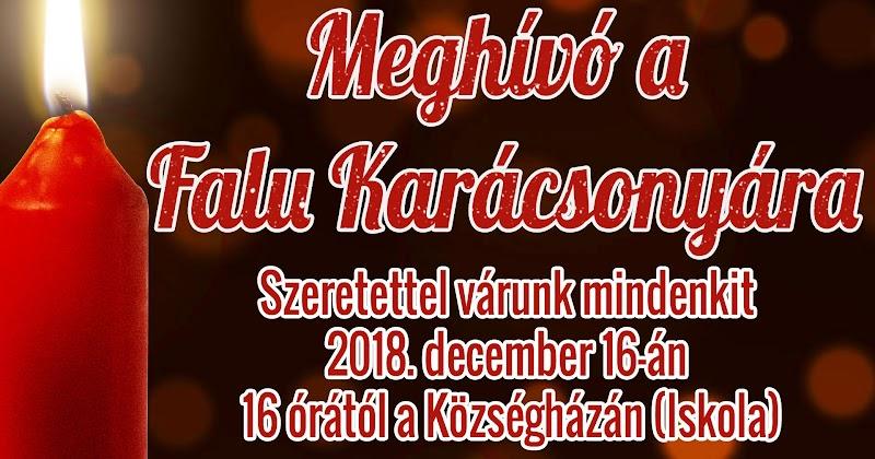 Meghívó a Falu Karácsonyára 2018. december 16