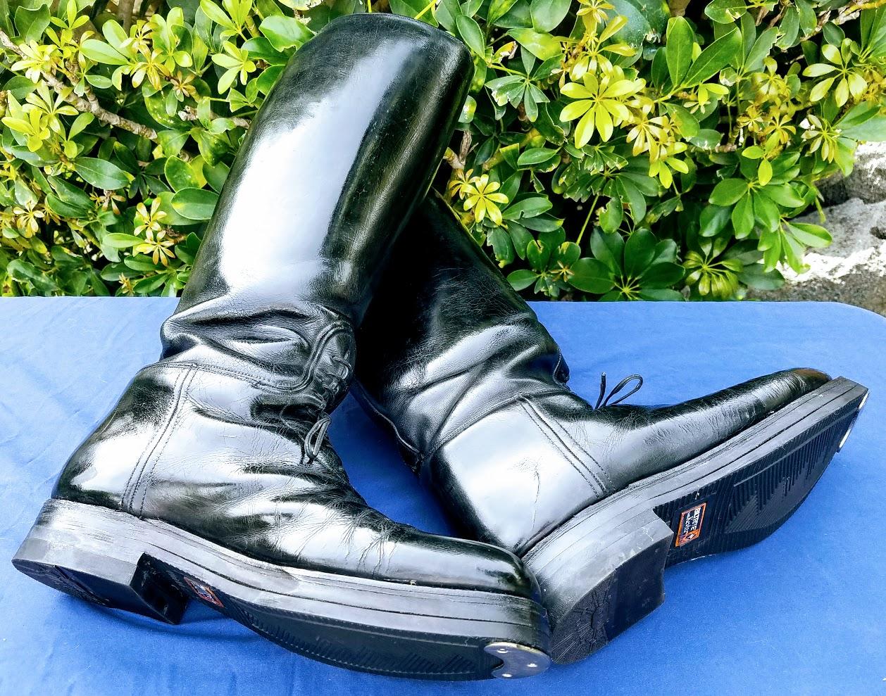 custom made dehner motor boots approximate size 10 5 e. Black Bedroom Furniture Sets. Home Design Ideas