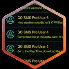 Tema de SMS de colores de neón icon