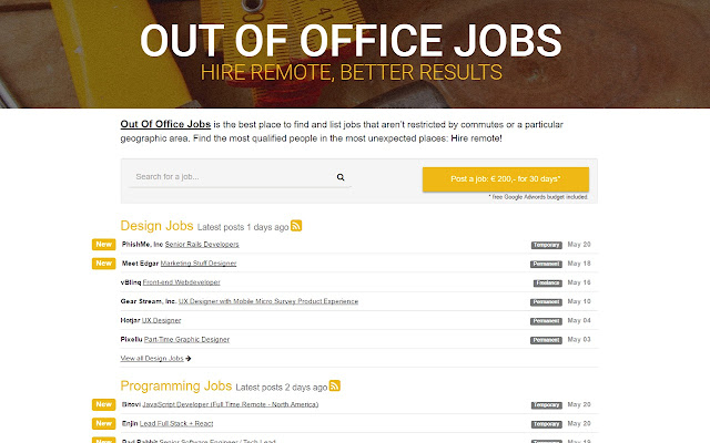 Out Of Office Jobs
