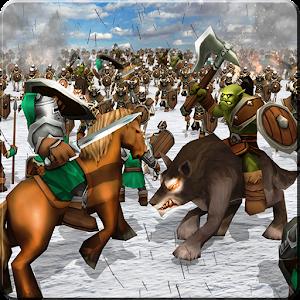 Knights & futuristic Army : Skeleton army Battle