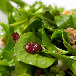 Spinach, Arugula, Cranberry and Walnut Salad