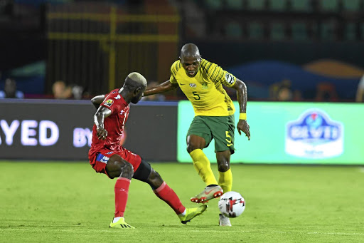 Bafana's Thami Mkhize against Namibia, when SA improved their chance of playing beyond the Afcon group stage.