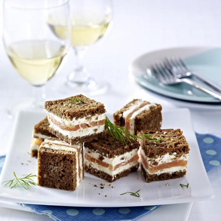 Smoked Salmon and Rye Tea Sandwiches Recipe   Yummly