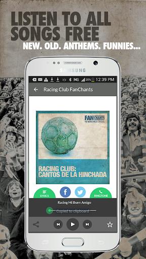 Racing Club FanChants Free