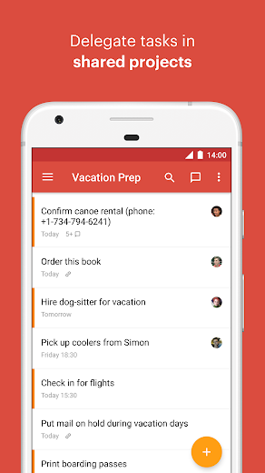 Screenshot 1 for Todoist's Android app'