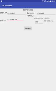 TCP Sweep - náhled