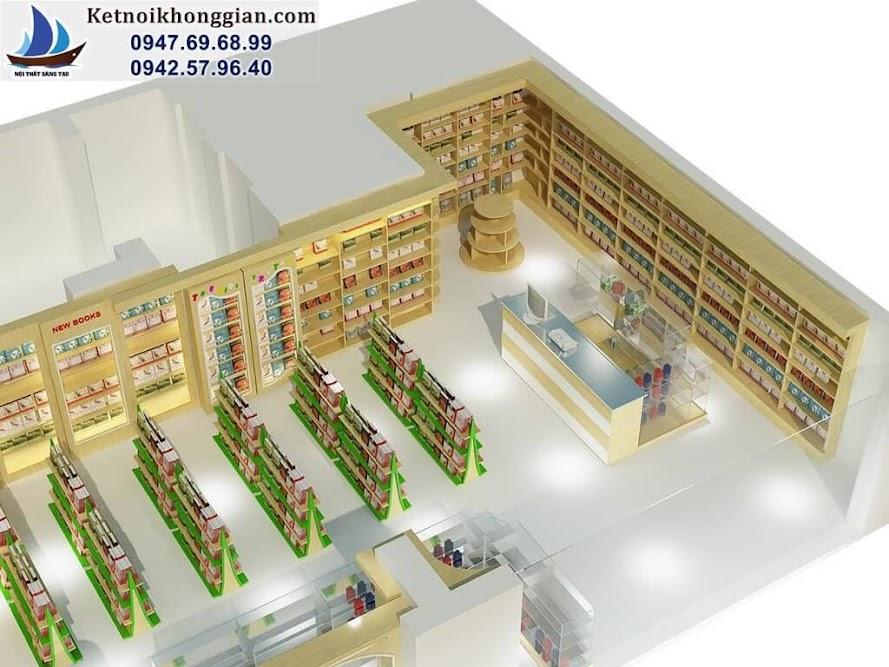 thiết kế nhà sách đẳng cấp