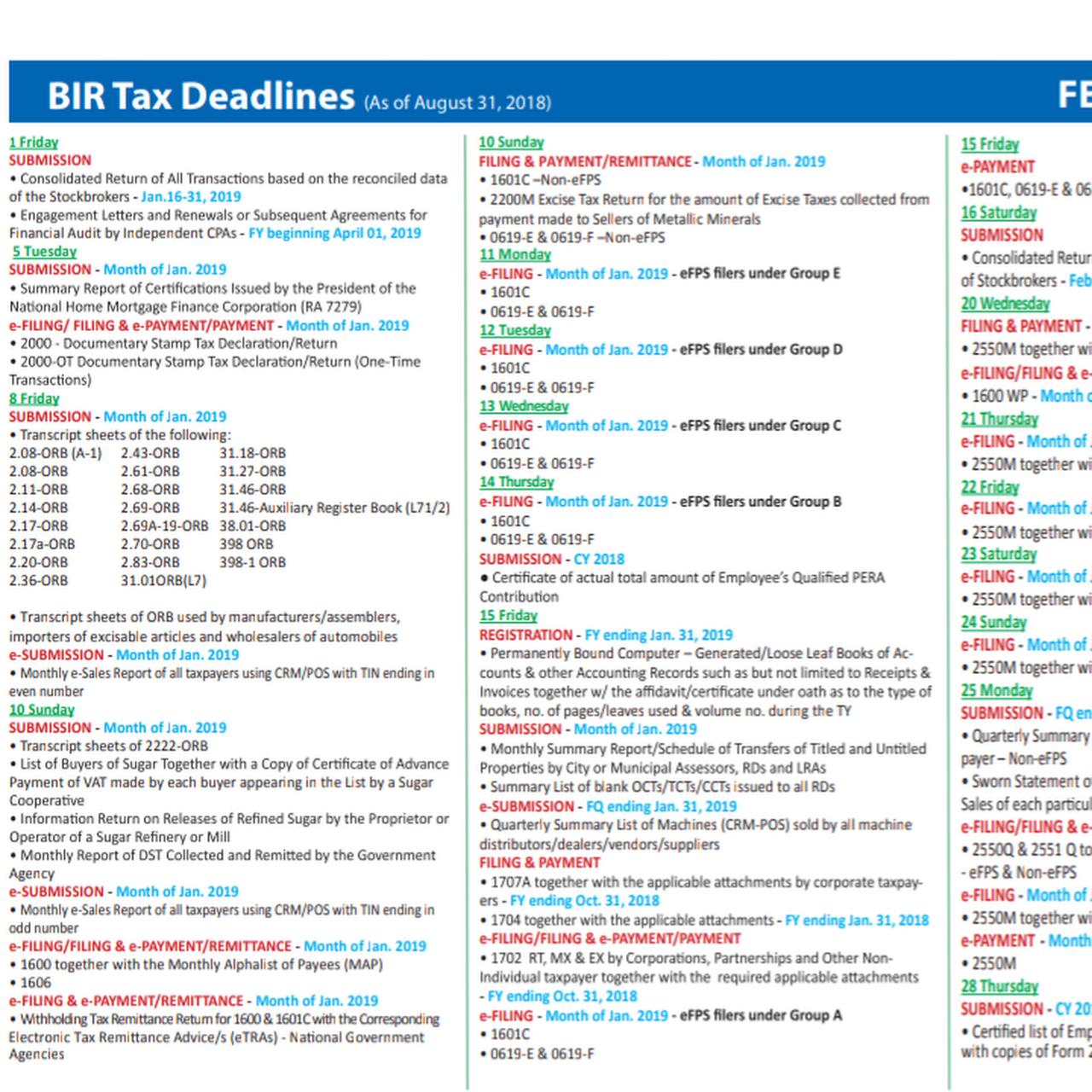 Quarterly Alphalist Of Payees Deadline
