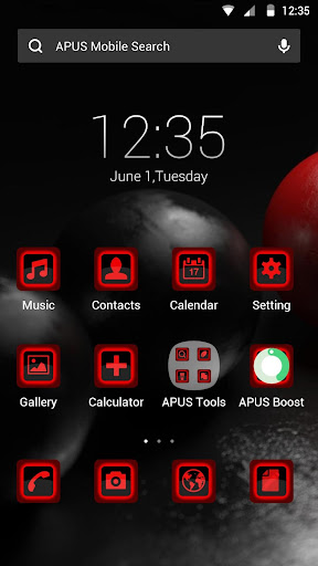 Red and Black theme for APUS