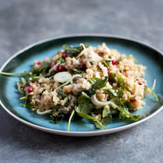 Fennel Salad with Ancient Grains and Pomegranate Seeds (gluten free, soy free)