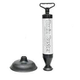 Pompa pentru desfundat Drain Buster cu doua duze interschimbabile