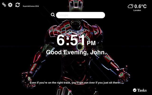 Iron Man Wallpaper HD Tab Theme