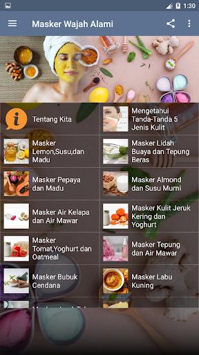 Tips Masker Perawatan Wajah bahan Alami screenshots 3