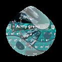Army green GO Keyboard icon