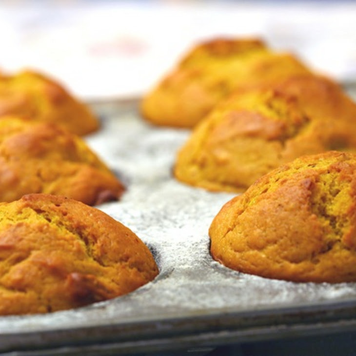 Low Fat Roasted Butternut Squash Muffins