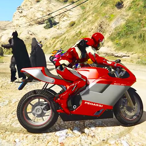 Super heroes Downhill Bike Racing (game)