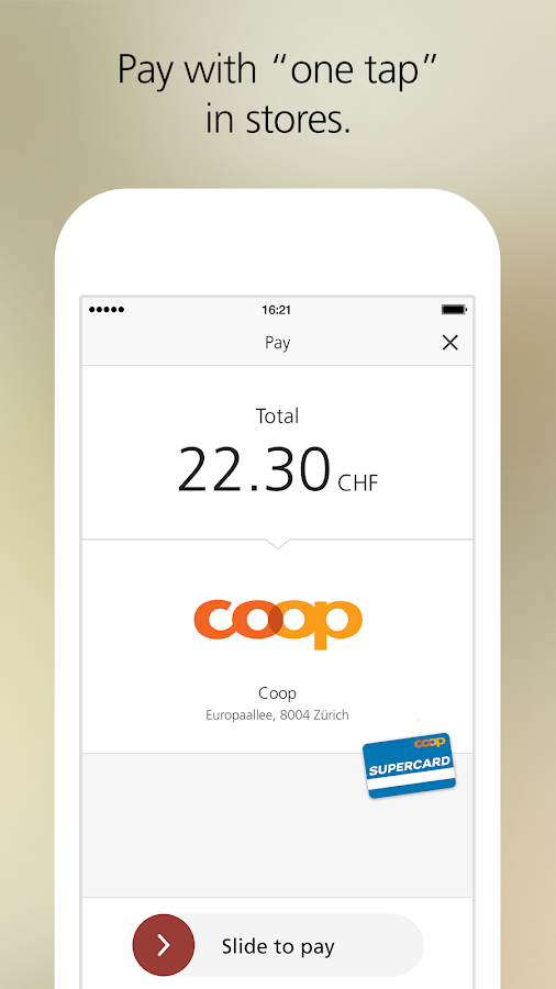 UBS TWINT – the payment app- screenshot
