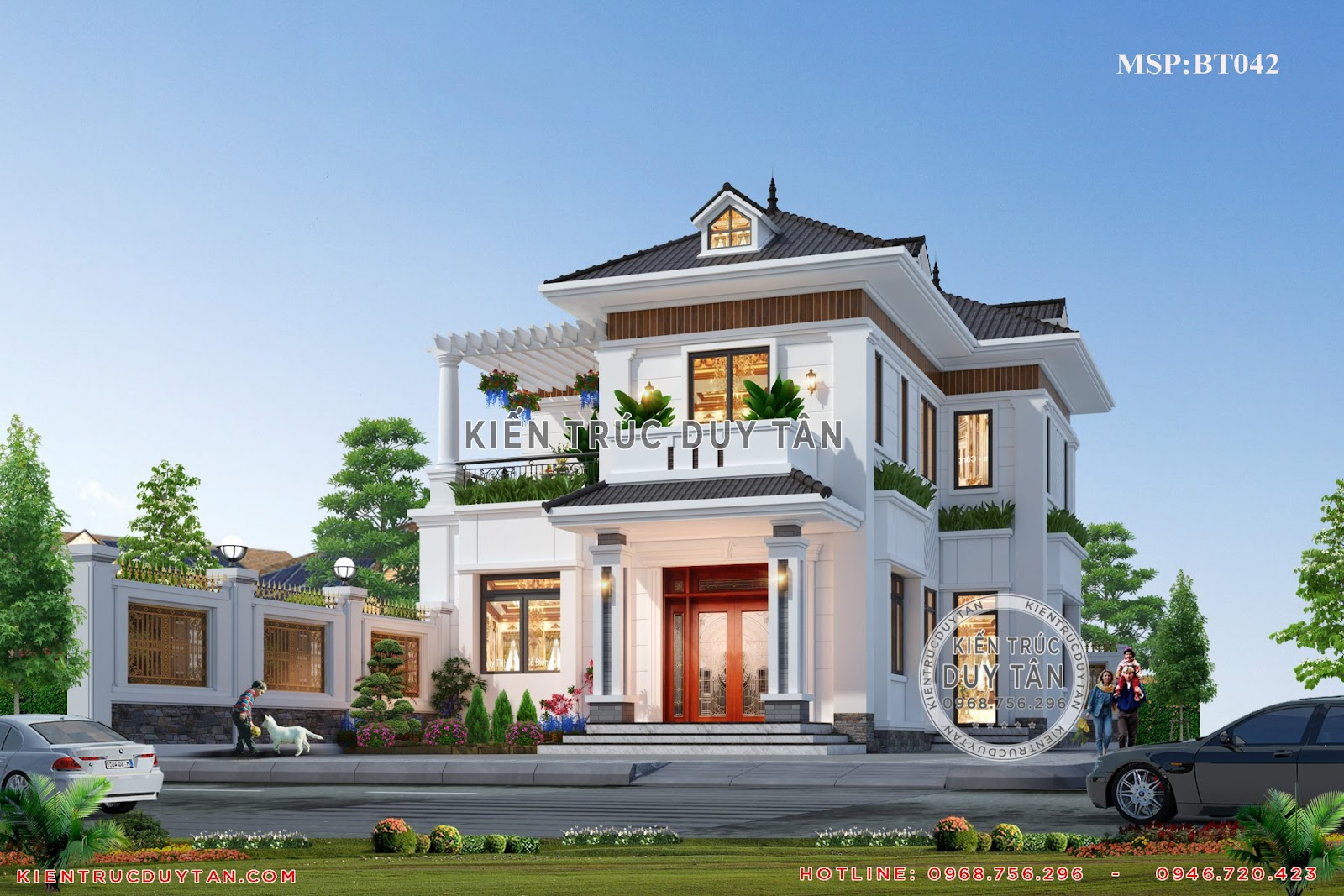 Kiến trúc Duy Tân đơn vị uy tín trong xây dựng biệt thự 2 tầng giá cả hợp lý